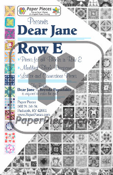 Dear Jane Quilt Paper Piece Pack Row E - Paper Piecing
