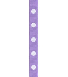 Spot Print Ribbon 3/8in 9mm Orchid/white 50yds / 46m