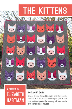 The Kittens Quilt Pattern By Elizabeth Hartman