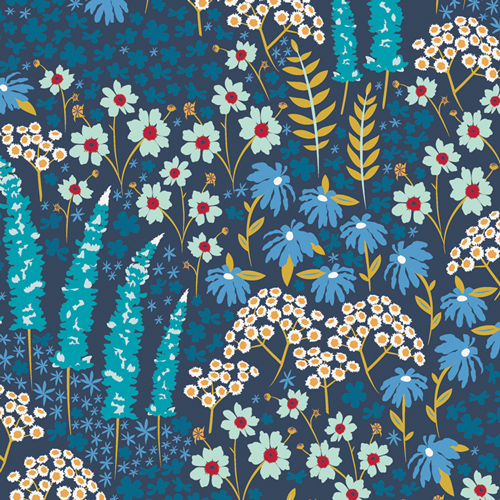 Blue Bank Flora Cotton From Catch & Release By Mister Domestic