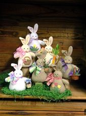 Bunches Of Bunnies - Countryside Crafts Felt Pattern