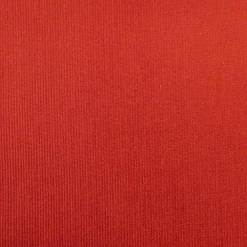 Hartford Brick Red Fine Stretch Needlecord Fabric
