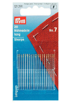 Prym Hand Sewing Needles Sharps 7 With Gold Eye 20pcs