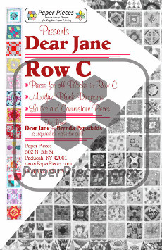 Dear Jane Quilt Paper Piece Pack Row C - Paper Piecing