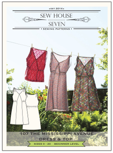 Mississippi Avenue Dress & Top Pattern - Sew House Seven Pattern