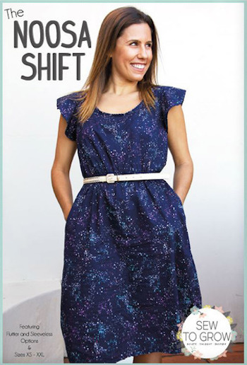 Noosa Shift Dress Pattern By Sew to Grow