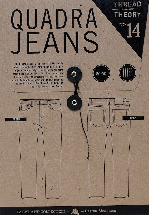 Quadra Jeans Pattern By Thread Theory Designs