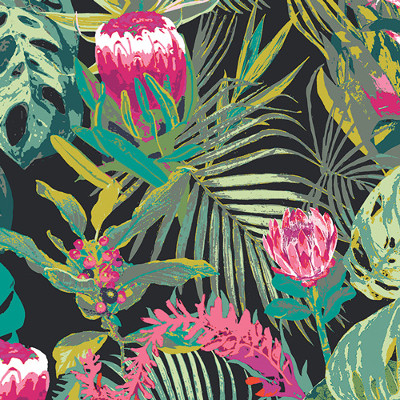 Tropicalia Dark In Rayon From Esoterra Designed By Katarina Roccella For AGF