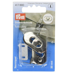 Prym Turn Clasp 35 X 20mm Silver Coloured
