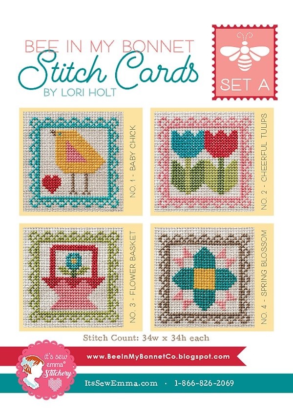 Stitch Cards Set A Cross Stitch Pattern - Lori Holt