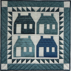 Miniature Quilt Kit - Houses 22in X 22in