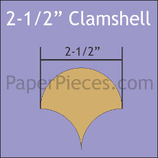 2.5 Inch Clamshells 40 Pieces - Paper Piecing