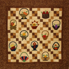 Basket Quilt Wall Hanging - 60 Inch X 60 Inch - Pattern Plus Paper Pieces