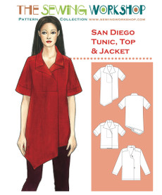San Diego Tunic Top & Jacket Pattern By The Sewing Workshop
