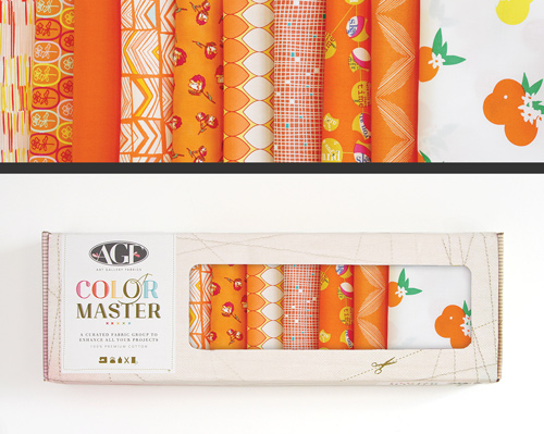 AGF Colormaster Fat Quarter Collectors Set - Tangerine Summer Edition