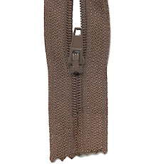 Make A Zipper Standard - 197in Long With 12 Zipper Pulls - Brown