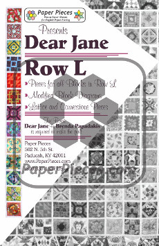 Dear Jane Quilt Paper Piece Pack Row L - Paper Piecing