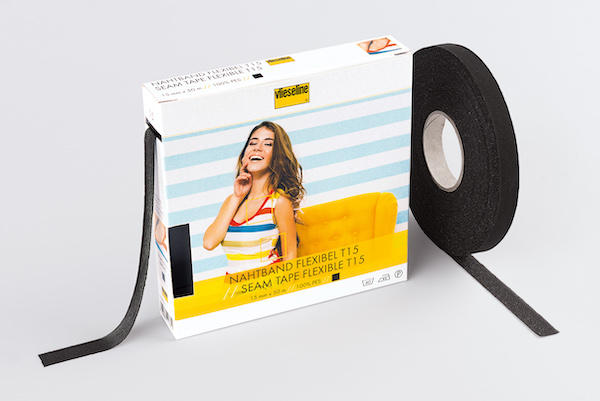Vilene Flexible Seam Tape 15mm x 5m Black