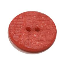 Acrylic Button 2 Hole Textured Speckle 18mm Red