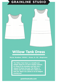 Willow Tank Dress Pattern By Grainline Studio