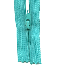 Make A Zipper Standard - 97in Long With 12 Zipper Pulls - Turquoise