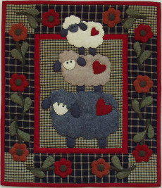 Miniature Quilt Kit - Wooly Sheep 13in X 15in