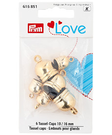 Prym Love Tassel Caps 3 x 10mm 3 x 16mm Silver Colour