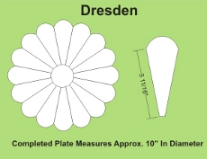 12in Dresden Small Pack 1 Complete Plate - Paper Piecing
