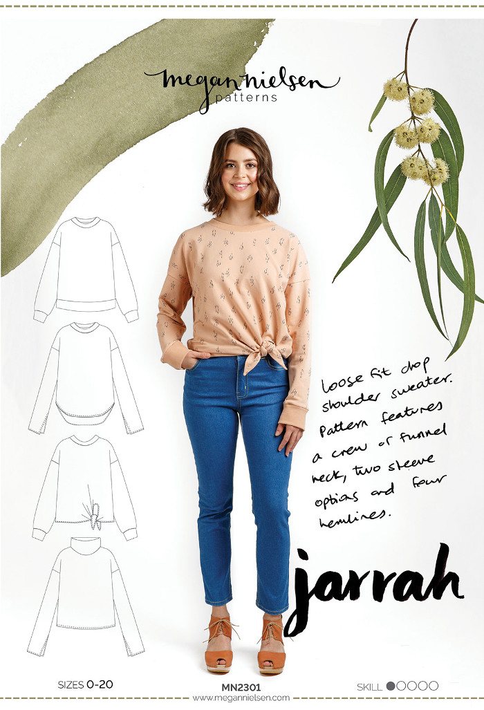 Jarrah Sweater Pattern - Megan Nielsen Patterns
