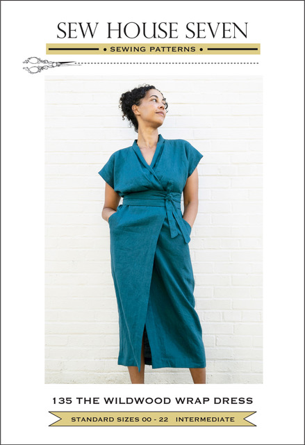 The Wildwood Wrap Dress Pattern By Sew House