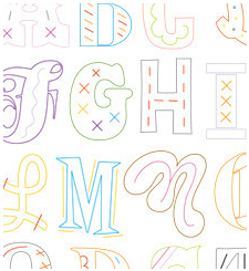 Epic Alphabet - Sublime Embroidery Transfer