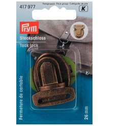 Prym Tuck Lock 26 X 35mm Antique Brass