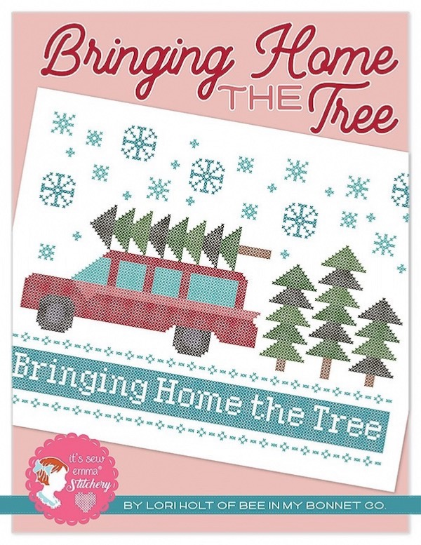 Bringing Home the Tree Cross Stitch Pattern by Lori Holt