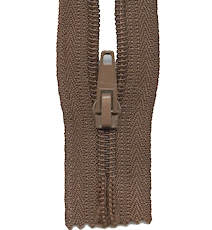 Make A Zipper Heavy Duty 108in Long With 12 Zipper Pulls - Brown