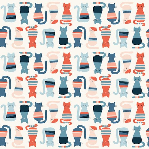 Cool Cats From Modern Love By Monaluna Fabrics