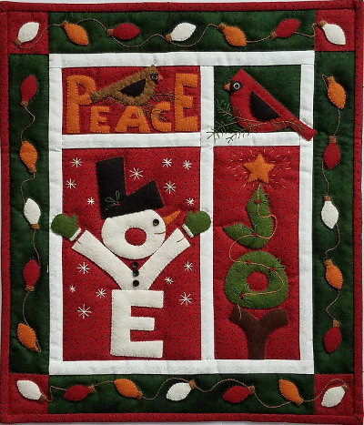 Miniature Quilt Kit - Love Joy Peace by Rachels of Greenfield