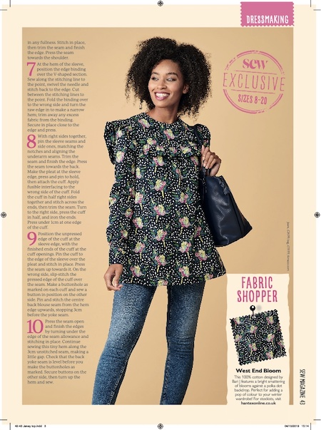 Sew Magazine Issue 130 - Janey Top