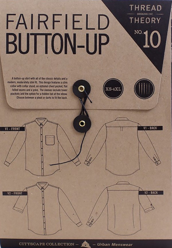 Fairfield Button-up Shirt Pattern By Thread Theory Designs