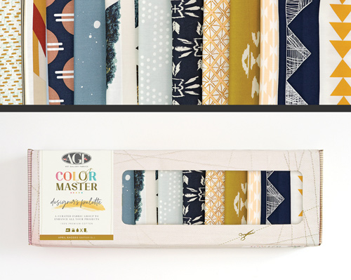 AGF Colormaster April Rhodes No 1 Designers Palette Fat Quarter Collectors Box