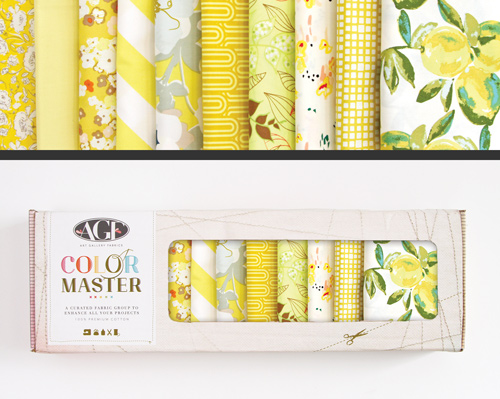 AGF Colormaster Fat Quarter Collectors Set - Lemon Green Edition