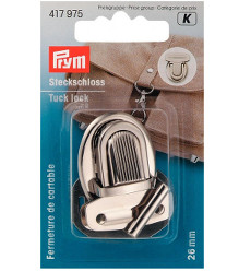 Prym Tuck Lock 26 X 35mm Silver Coloured