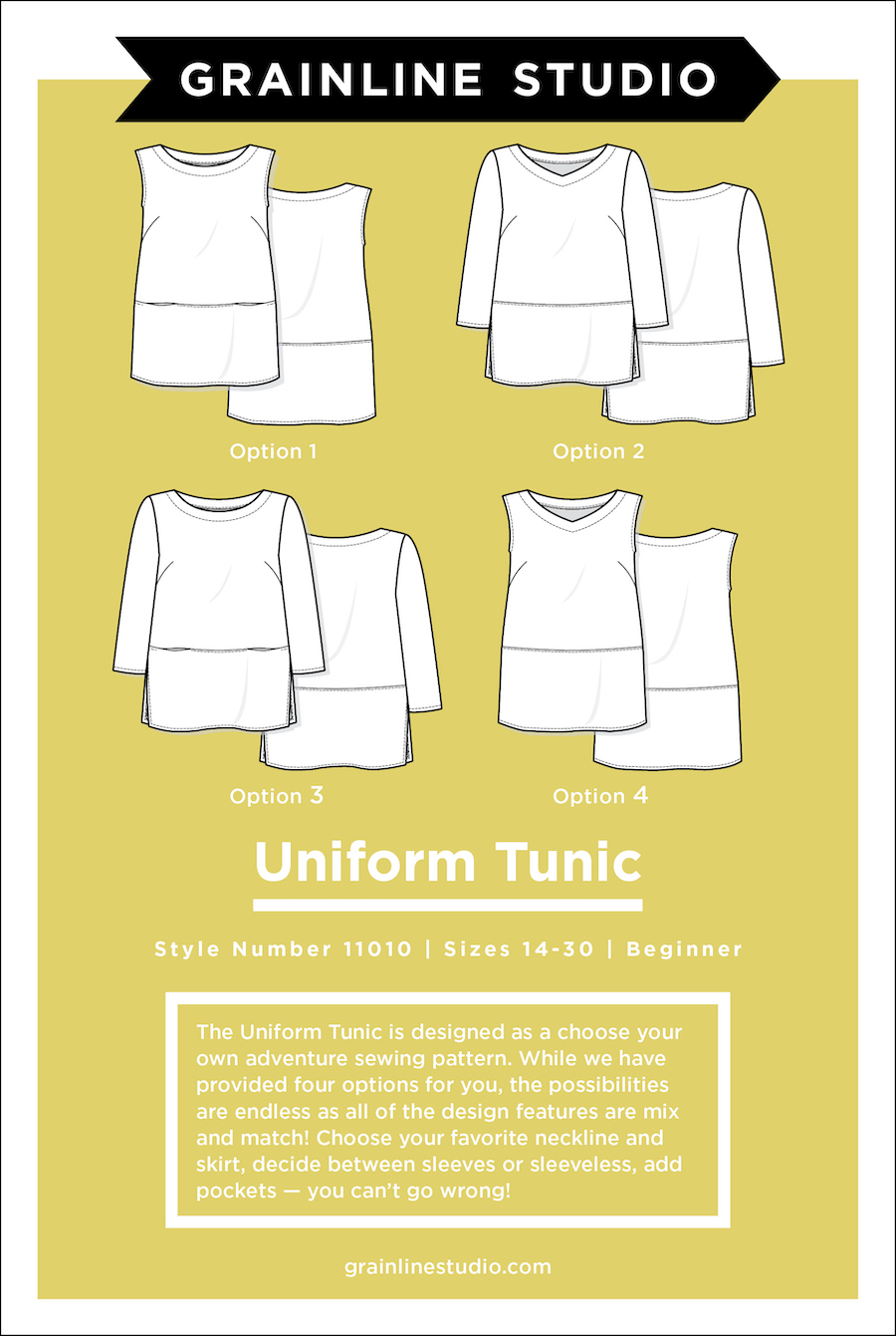 Uniform Tunic Pattern Size 14-30 By Grainline Studio