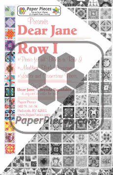 Dear Jane Quilt Paper Piece Pack Row I - Paper Piecing