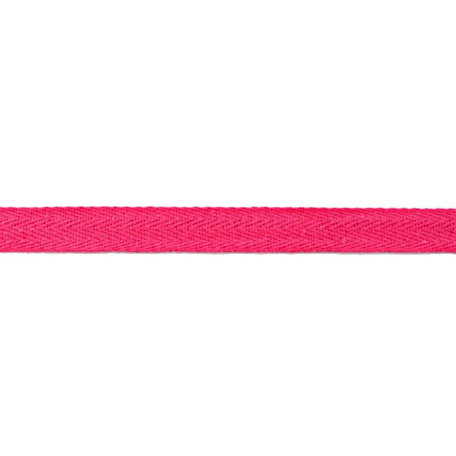 Fuchsia Washed Cotton Twill Tape - 15mm X 50m