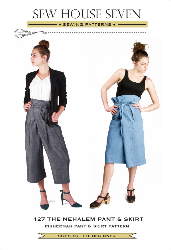 The Nehalem Pant & Skirt - Sew House Seven Pattern