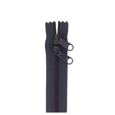 Double Slide Bag Zipper 30in Navy