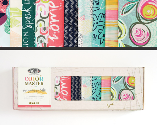 AGF Colormaster Caroline Hulse No 1 Designers Palette Fat Quarter Collectors Box