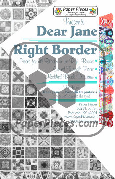 Dear Jane Quilt Paper Piece Pack Row Right Border - Paper Piecing