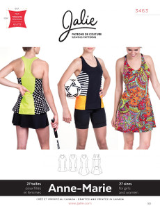 Anne-Marie Tanks And Dress Pattern - Jalie Patterns