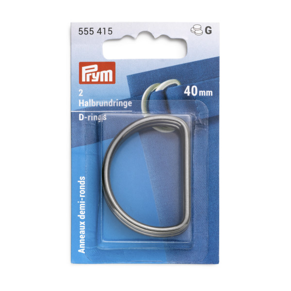 Prym D-Rings 40mm Gnmetal 2 pc